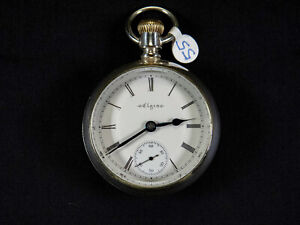 Elgin Grade 73, Model 5, 18s, 7 jewels, 1895 Antique Pocket Watch