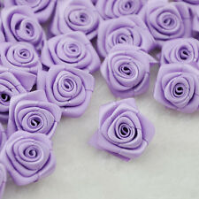 10/40pcs wholesale Satin Ribbon Flower Rose trimming sewing Lots mix color A084