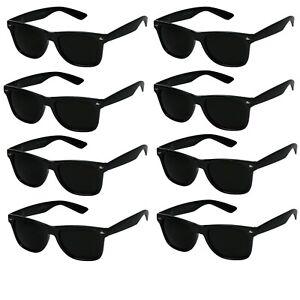 classic black sunglasses mens womens 80s retro UV400 vintage fashion