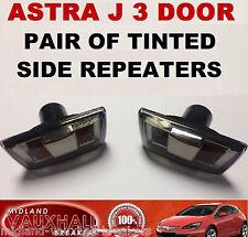 ASTRA J Mk6 3 DOOR PAIR SMOKED TINTED SIDE REPEATERS WING INDICATORS GTC SRI VXR