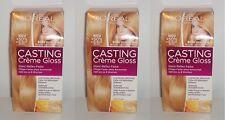 3x Loreal Casting Crème Gloss Honey Nougat Blond 8034