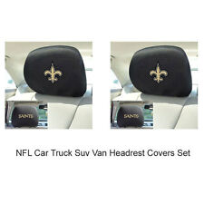 New 2pc NFL New Orleans Saints Gear Car Truck Suv Van Headrest Covers Set