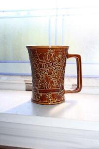 Vintage Large Red Wing Pottery Hamm's Krug Klub Beer Stein Mug