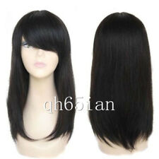 100% Real Hair! Women wig Black Brazilian Long Straight Wigs Straight Human Hair
