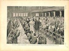 Jubilé Reine Victoria prince & princesse de Galles banquet enfants GRAVURE 1897