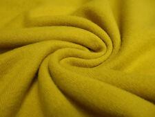Stoff Ital. Strickstoff 100% Merino Merinostrick Wolle uni curry senf gelb