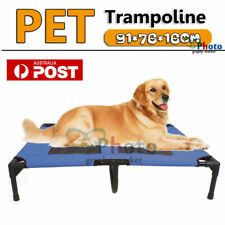 Large Pet Dog Cat Bed Trampoline Hammock Pet Cots Puppy Heavy Duty Frame Blue AU