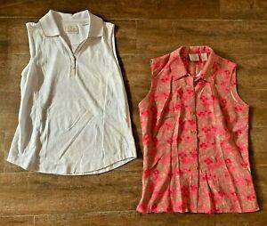 S EP Pro Tour Dry 2 womens golf shirt sleeveless clothing pink print white lot