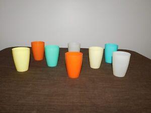 "VINTAGE KITCHEN 8   3"" HIGH STERI-LITE USA PLASTIC JUICE CUPS"