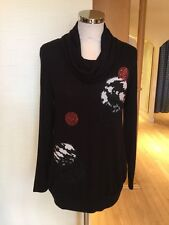 Latte Jumper Size 12 BNWT Black Cream Pink RRP £120 Now £36