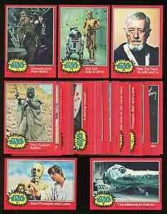 1977 Topps STAR WARS Series 2 Complete Red (66 cards) ~ NM-MT ~ NICE CLEAN SET ~