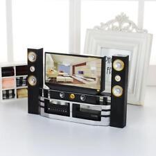 UK Dolls House Miniature Mini TV Dollhouse Accessories Dolls Living Room Decor