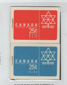 CANADA BK54 & BK55 CENTENNIAL ISSUES MNH CV$10.50