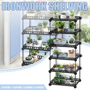 Plants Stand Flower Pot Display Shelf Organization Home Garden Holder Rack