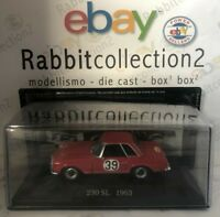 "DIE CAST "" 230 SL 1963 RALLY N° 39 "" MERCEDES COLLECTION SCALA 1/43 (72)"