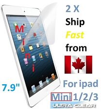 2X Protecteur Ecran ULTRA clair Apple iPad Mini 1 2 3 Clear Screen Protector 7.9