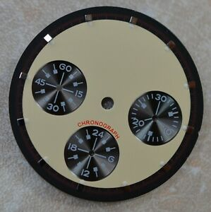 Dial for Seagull ST1903 movement daytona style 30.5 mm