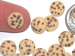 3pc miniature little dollhouse candy Christmas Chocolate chip cookies dough food