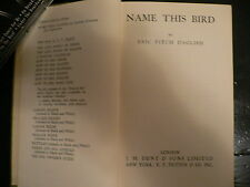 Eric Fitch Daglish. Name This Bird. 1936