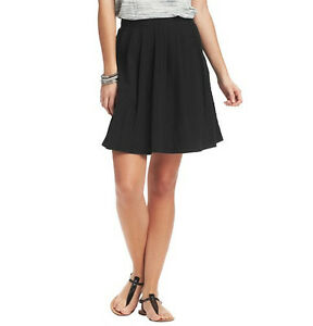 Ann Taylor LOFT Pleated Textured Cotton Summer Stroll Skirt Various Color / Size