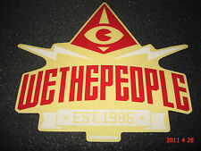 1 AUTHENTIC WETHEPEOPLE BMX BICYCLES RED / WHITE STICKER / DECAL #54 AUFKLEBER