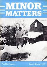 "MORRIS MINOR OWNERS CLUB MAGAZINE - ""MINOR MATTERS""  (January/February 1993)"