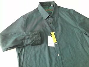 Robert Graham Mens Paisley Circus Maximus Long Sleeve Green Shirt Sz XL  NWT