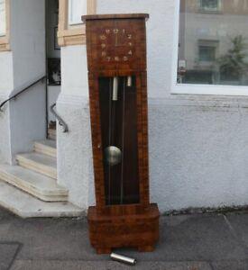 Art Déco Standuhr um 1920 - Werk 14763 - drei Gewichte - verglast
