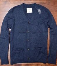 Abercrombie & Fitch Men's Navy Lightweight Cotton Blend Cardigan Sweater 2XL
