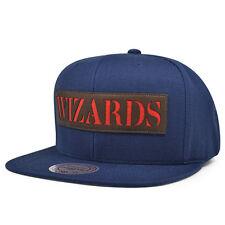 Washington Wizards LASER CUT LEATHER Snapback Mitchell & Ness NBA Hat