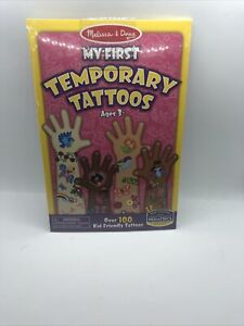 Melissa And Doug My First Temporary Tattoos Pink Set NEW Arts