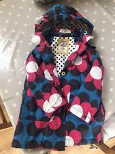 Mini Boden Girls 5-6 Coat/jacket Pink Blue Flowers Polka