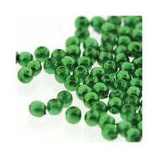 Czech Glass Beads Pearls 2mm Christmas Green C8154 Tiny Round Jewelry Supplies