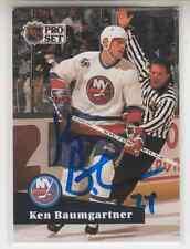 Autographed 91/92 Pro Set Ken Baumgartner - Islanders