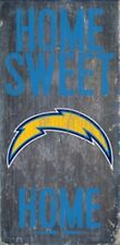 "San Diego Chargers Home Sweet Home Wood Sign 12"" x 6"" [NEW] NFL Man Cave Wall"