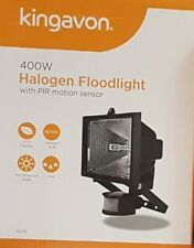 400W HALOGEN FLOODLIGHT PIR MOTION SENSOR OUTDOOR GARDEN SECURITY GARAGE LIGHT