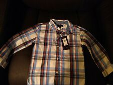 New with tag Tommy Hilfiger Long Sleeve Button Up Boys Shirt 3T plaid