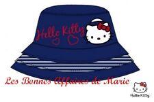 HELLO KITTY - LIQUIDATION - Bob en popeline de coton marine 54 - Neuf étiquette