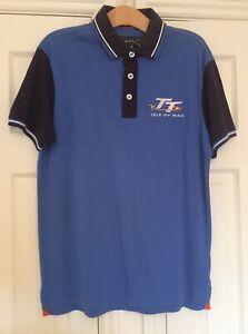 Official Isle of Man TT Races Royal Blue Polo Shirt Medium