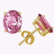 Kunzite Stud Earrings 14K Yellow or White Gold