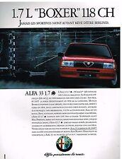 """Publicité Advertising 1987 Alfa Romeo Alfa 33 1.7 L """"Boxer"""""""