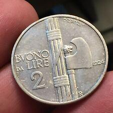 REGNO VITTORIO EMANUELE III - BUONO DA 2 LIRE 1924