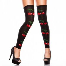 HUSTLER LINGERIE CHERRY THIGH HIGH LEG WARMERS - ONE SIZE