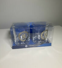 Authentic Chelsea FC Print Whiskey Glasses (2 Pack) ~ **FAST & FREE**