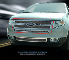 Fedar Fits 2007-2010 Ford Edge  Full Polished Dual Weave Mesh Grille Insert