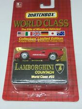 1990 MATCHBOX WORLD CLASS LAMBORGHINI COUNTACH  GOODYEAR AUTHENTIC RUBBER TIRES