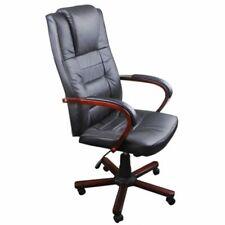 vidaXL Silla de oficina cuero negro Mueble de Oficina Mobiliario de Casa