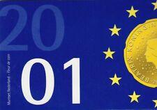 Niederlande Kursmünzen Satz 2001 UNC.  6 Münzen 8,90 Gulden