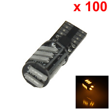 100x Yellow Auto T10 W5W Turn Signal Light Wedge Lamp Canbus Error Free 11 7020