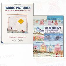 The Textile Artist Collection Applique Art & Fabric Pictures 2 Books Set NEW